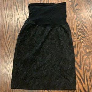 Bailey 44, Black Maternity Skirt, Size Large